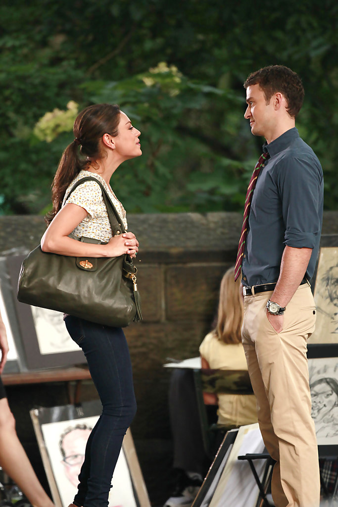 mila kunis and justin timberlake film friends with benefits 2 zimbio. Black Bedroom Furniture Sets. Home Design Ideas
