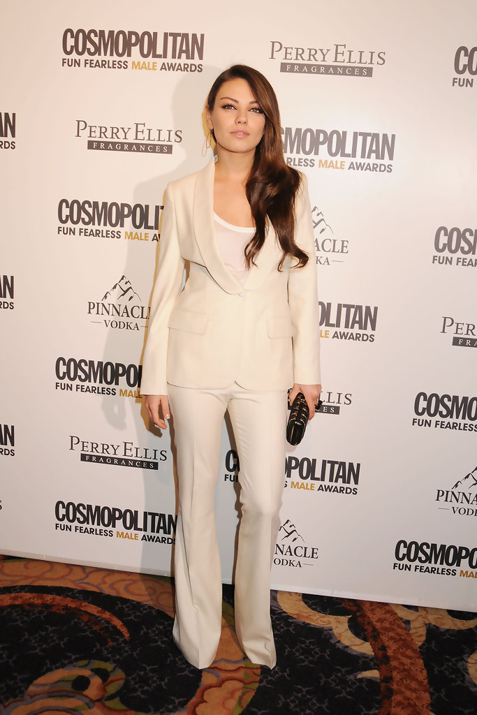 Mila+Kunis in Cosmopolitan Magazine's Fun Fearless Males of 2011 Event