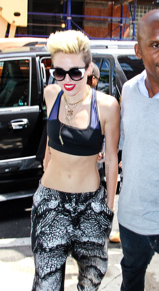 Miley Cyrus Miley Cyrus arrives at the Greenwich Hotel in New York City on June 26, 2013.