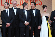 Billy Crudup, Noah Emmerich, Guillaume Canet, Clive Owen and Marion Cotillard attend the Premiere of 'Blood Ties' during the 66th Annual Cannes Film Festival at the Palais des Festivals in Cannes.