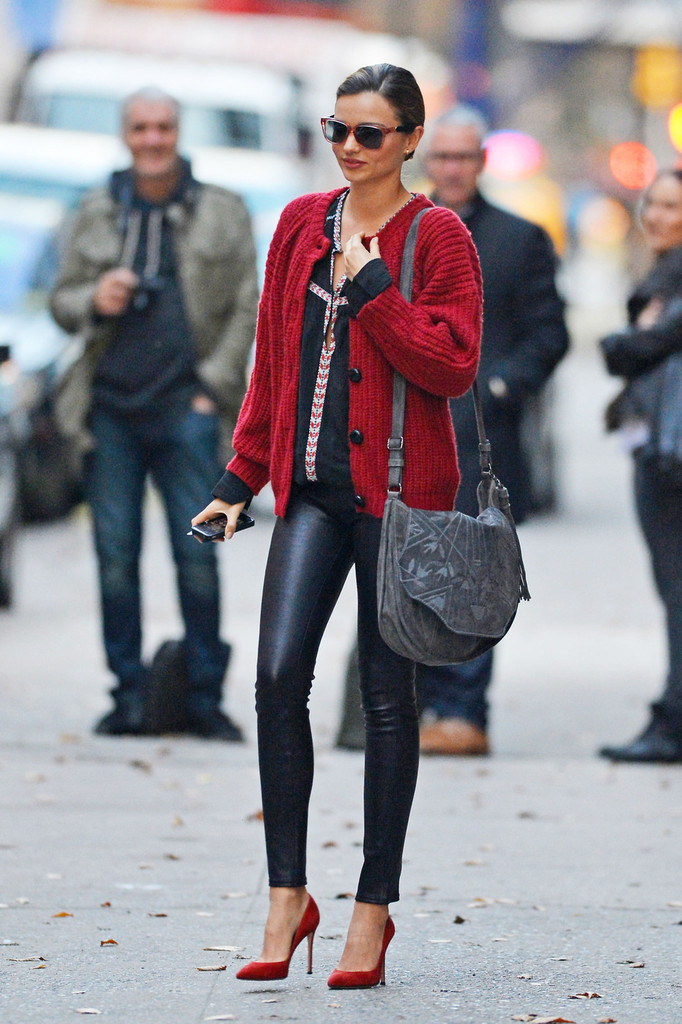 Model Miranda Kerr shows off her street style in New York City as she is out and about.