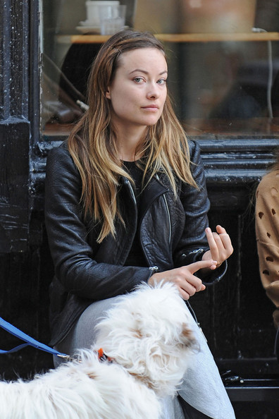 NATURAL BEAUTY - A bare faced Olivia Wilde is spotted walking her dog with a ...