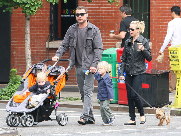 Samuel Schreiber Naomi Watts and partner Liev Schreiber take their sons Alexander Pete and Samuel Kai to the park for some play time. The family started off their day with a trip to the coffee shop followed by their local YMCA. Once at the park, Liev took Samuel for a ride down the slide while Naomi pushed Alexander on the swings.