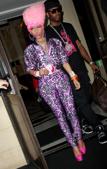 nicki minaj in london hotel