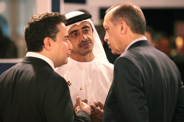 Recep Tayyip Erdogan Nicolas Sarkozy (France), Barack Obama (USA) during the second day of the G20 Summit in Cannes, France at the Palais des Festivals
