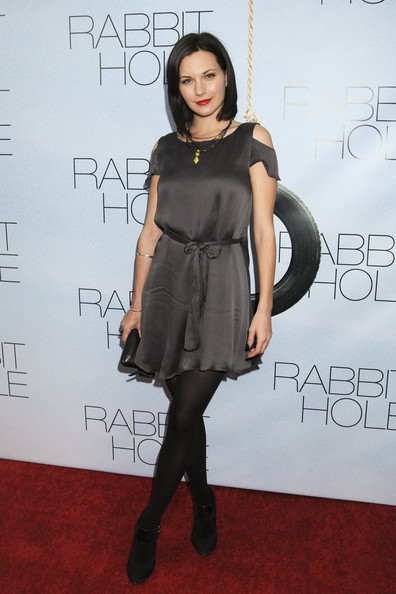 "- Thursday December 2 2010. Jill Flint on the red carpet for the New York premiere of ""Rabbit Hole"" at the Paris Theatre."
