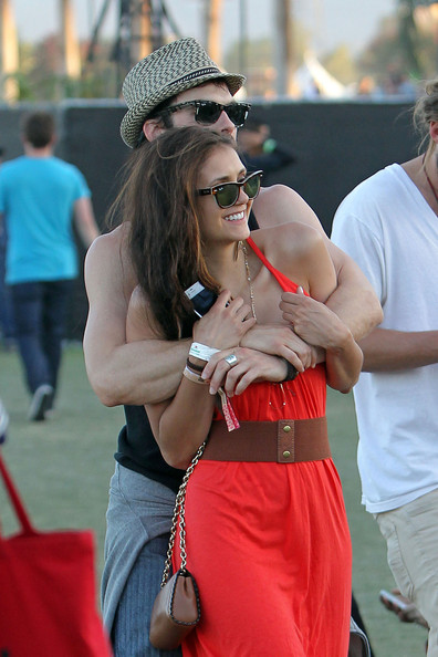 Nina Dobrev - Ian Somerhalder and Nina Dobrev Hang Out at Coachella