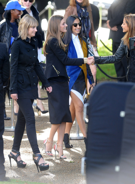 LFW: Arrivals at Burberry Prorsum