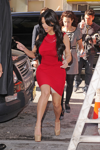 Kim Kardashian Outside Fox 5 Studios in New York City