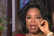 """Oprah Winfrey Cries During Her Interview With Barbara Walters on ABC. Oprah, who has hosted her own chat show for 25 years, broke down while talking about her long-time best friend Gayle King and denying rumors that she is gay: """"She is the mother I never had; the sister everyone would want; the friend everyone deserves."""" She also discussed her relationship with long-term boyfriend, Stedman Graham, her childhood, her parents, and her plans to launch her own network. Photograph: © ABC, Supplied by PacificCoastNews.com.ÊAll Rights Reserved."""