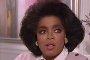 """Oprah Winfrey Cries During Her Interview With Barbara Walters on ABC. Oprah, who has hosted her own chat show for 25 years, broke down while talking about her long-time best friend Gayle King and denying rumors that she is gay: """"She is the mother I never had; the sister everyone would want; the friend everyone deserves."""" She also discussed her relationship with long-term boyfriend, Stedman Graham, her childhood, her parents, and her plans to launch her own network. THIS PICTURE: Oprah Winfrey's Childhood Photos Aired During the Barbara Walters Interview on ABC. Photograph: © ABC, Supplied by PacificCoastNews.com.ÊAll Rights Reserved."""