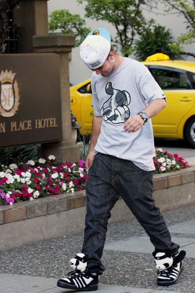 PANDA WEAR - Cameron Bright buys some Panda Bear design sneakers from the Adidas store in Vancouver. The