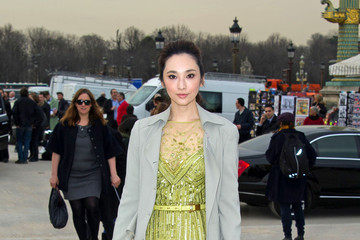Pace Wu Arrivals at the Elie Saab Fashion Show 2