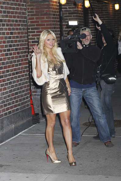 Paris Hilton @ The Late Show with David Letterman and PDA ...