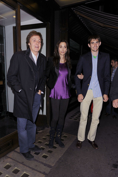 Paul McCartney Sir Paul McCartney and fiancee Nancy Shevell dine out with her son, Arlen, in central London ahead of their wedding on Sunday. As the happy couple left Cecconi's restaurant, they received conratualtions from a Big Issue seller. Sir Paul and Nancy, who met through mutual friends, will marry on October 9 2011 at Westminster Registry Office in the British captial.