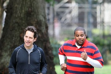 Kenan Thompson Paul Rudd and Others Shoot 'They Came Together'