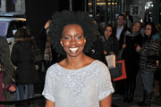 Wednesday 15, 2012. Adepero Oduye attending the Marchesa Fall 2012 fashion show during Mercedes-Benz Fashion Week at The Plaza Hotel in New York City.