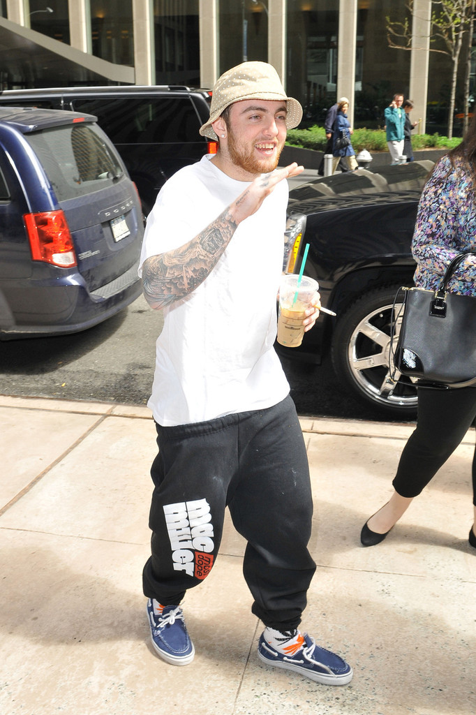 Mac Miller Shows Off His Tattoos In NYC Zimbio