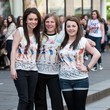 Group Pop girlband The Saturdays sign copies of their latest single '30 Days' to an adoring crowd at HMV in Glasgow
