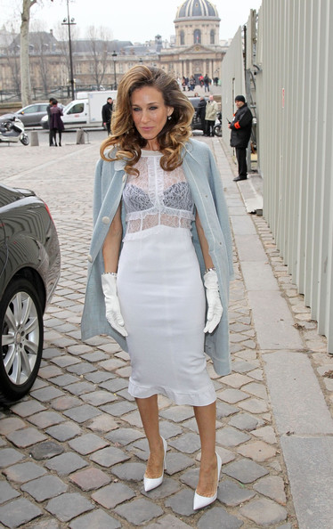Sarah Jessica Parker attending the Louis Vuitton Autumn Winter 2012 show as part of Paris Fashion Week, Paris.