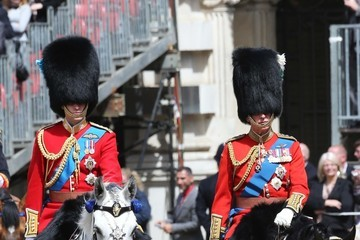 Prince William Prince Charles Prince Charles, Prince of Wales rides by horse during the annual 'Trooping The Colour' ceremony in London