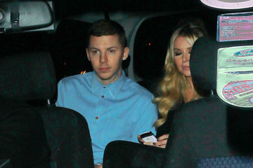 Candy McCulloch Celebrities Leave Fountain Studios after Attending 'The X Factor' Results Show