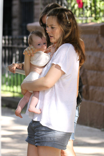 "QUALITY TIME - Alicia Silverstone and new baby boy Bear Blu are seen spending quality time with each other on set of the new movie ""Gods Behaving Badly"". Silverstone, 34, will be the star of this film adaptation of the 2007 best-selling book by Marie Phillips."