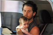 "QUALITY TIME - Rocker Christopher Jarecki and new baby boy Bear Blu are seen spending quality time with Alicia Silverstone on set of the new movie ""Gods Behaving Badly"". Silverstone, 34, will be the star of this film adaptation of the 2007 best-selling book by Marie Phillips."