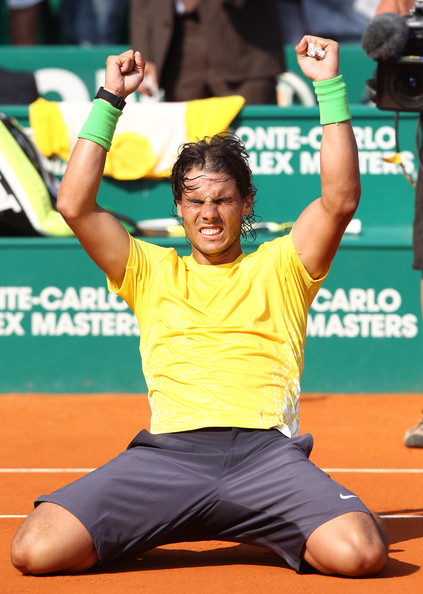 Rafael Nadal Rafael Nadal of Spain breaks a new record winning his seventh straight Monte Carlo Masters title in Monte-Carlo. He beat in the final David Ferrer of Spain in 2 sets -6/4, 7/5 at the Monte-Carlo Country Club in Monaco.