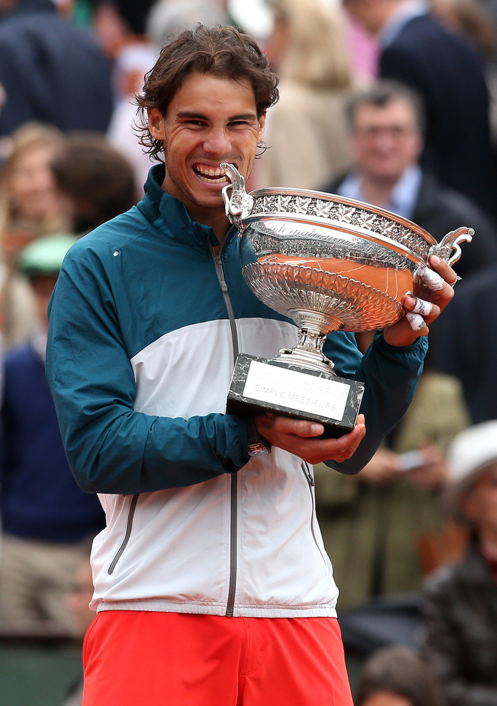 Rafael Nadal of Spain clinches French Open 2013 title ... Nadal 2013