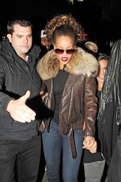Rihanna Singer Rihanna is spotted leaving Stringfellows Club in London.   The american singer was spotted leaving the club with heavyweight boxer David Haye.