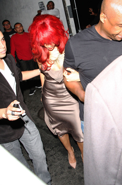 "Rihanna A shy Rihanna hides behind her fringe at the afterparty for the BET awards at the Playhouse nightclub in Los Angeles. The ""What's My Name"" singer enjoyed an evening off from her ""Loud"" tour to party. Rihanna's ex-boyfriend Chris Brown scooped four awards at the ceremony - she was not in attendance."