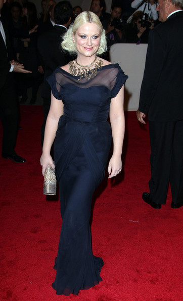"Amy Poehler at the annual Costume Institute Gala, celebrating the exhibition at the Met of 'Alexander McQueen: Savage Beauty"", held at the Metropolitan Museum Of Art on 5th Avenue in Manhattan."
