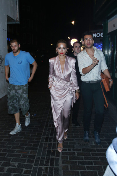 Rita Ora seen arriving at The Box, nightclub in London.