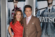 "Robert Downey Jr. and wife Susan Downey at the New York Premiere of ""Sherlock Holmes""."