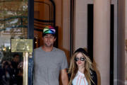 Rockstar Avril Lavigne and her boyfriend Brody Jenner are seen leaving the Plaza Athenee Hotel in Paris.  The couple held hands as they enjoyed the romantic city together.