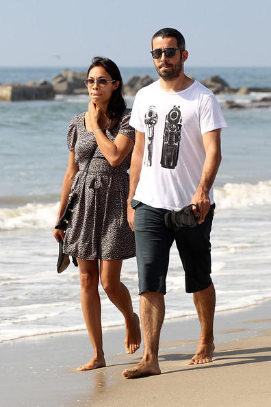 Rosario Dawson and her former boyfriend�Mathieu Schreyer back in Santa Monica
