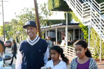 Ming Lee Simmons Russell Simmons Has Lunch at Fred Segal