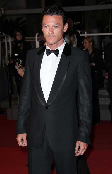 "Luke Evans is seen on the red carpet for a screening of ""Drive"" at the Cannes Film Festival."