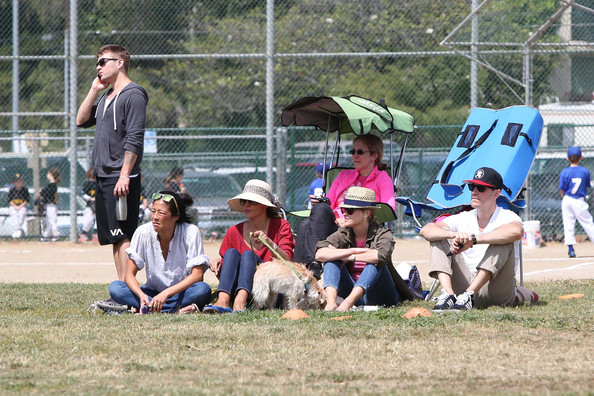 Reese Witherspoon Watches Her Son's Football Game