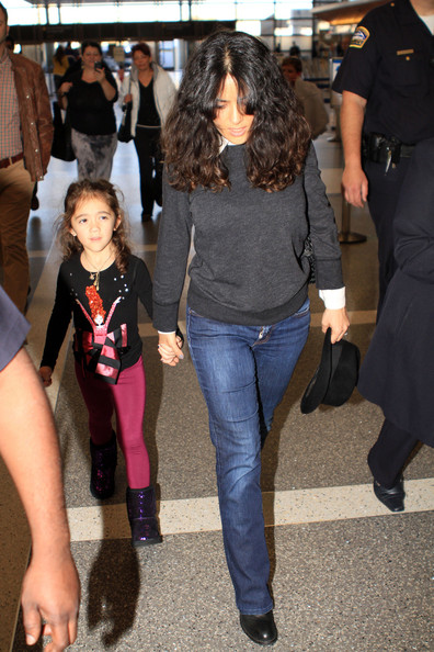Salma Hayek - Salma Hayek and Valentina in LA