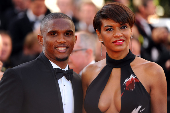 "Samuel Eto'o Samuel Eto'o arrives before the screening of ""The Tree of Life"", held during the 64th Annual Cannes Film Festival."