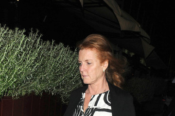 Sarah Ferguson Celebs Grab Dinner in London