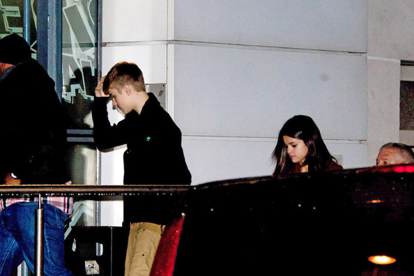 Selena Gomez Superstar couple Justin Bieber and Selena Gomez are spotted at NRJ Radio studios in Paris. Fans gather outside the studios to get a glimpse of the superstars walking in.
