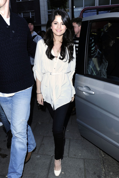Selena Gomez Selena Gomez arrives at Radio 1 for an interview on the 5.19 show. Selena will be appearing in the upcoming comedy