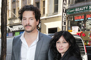 Actress Shannen Doherty poses with husband Kurt Iswarienko at 'The Today Show' in NYC.