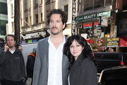 """Actress Shannen Doherty poses with husband Kurt Iswarienko at """"The Today Show"""" in NYC."""