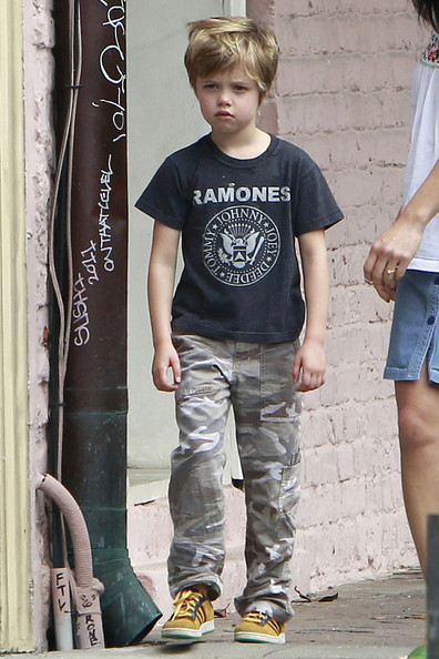 Shiloh Jolie-Pitt Shiloh Jolie Pitt looks like she is in a pouty mood