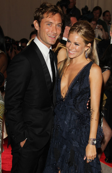 HAPPIER TIMES: Jude Law and  Sienna Miller, who have split yet again, at The Costume Insititute Gala benefit back in May []