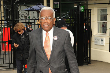 Sir Trevor McDonald Celebs Leave the Wimbledon Championships